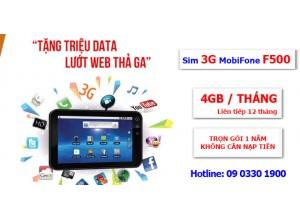 Sim 3G 4G Fast Connect MobiFone  – Mua 1 Lần Dùng Miễn Phí Cả Năm