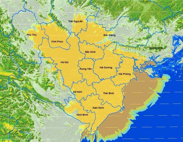 Bản đồ phủ sóng MobiTV Miền Bắc