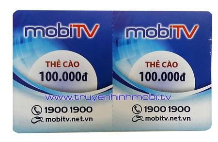 Thẻ cào MobiTV 100K