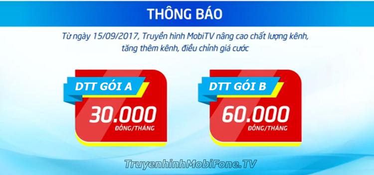 Truyền hình MobiTV điều chỉnh giá cước từ 15/9/2017